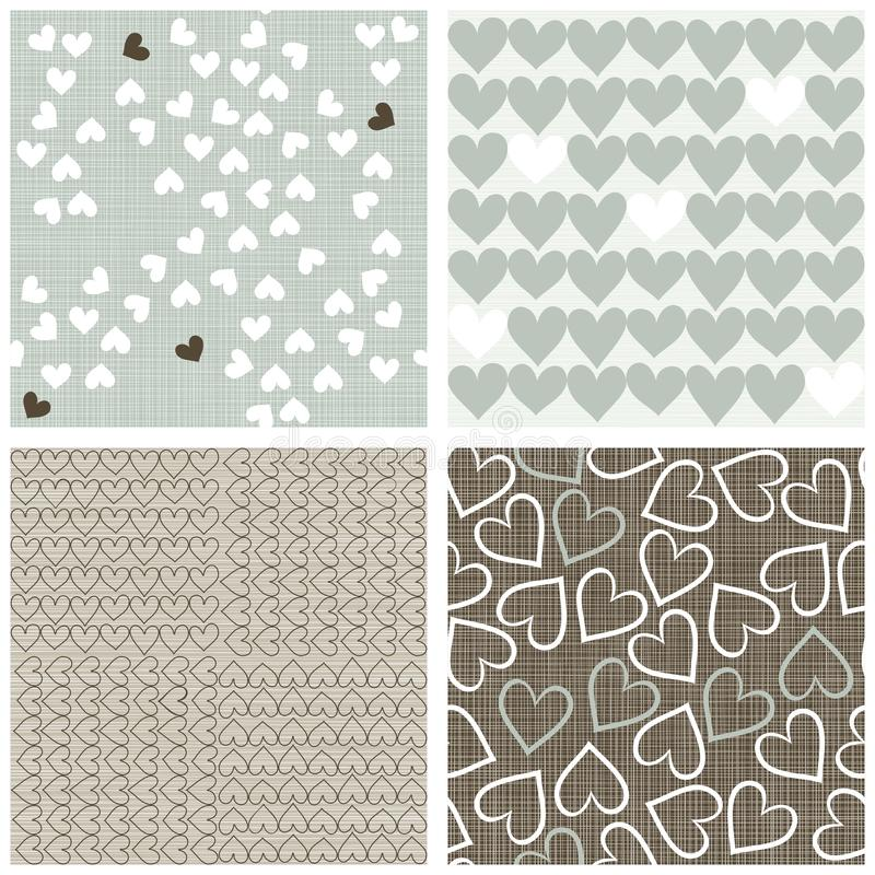 Winter colors hearts scrapbook backgrounds stock photos
