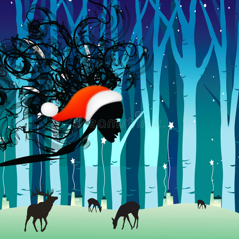 Winter is coming 2. Jpeg and vector picture with christmas holiday theme stock illustration