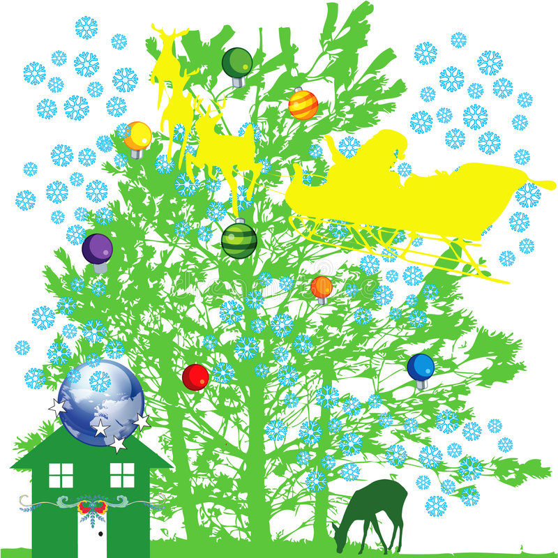 Winter is coming 3. Jpeg and vector picture with christmas holiday theme stock illustration