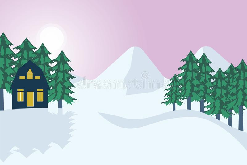 Winter is coming royalty free illustration