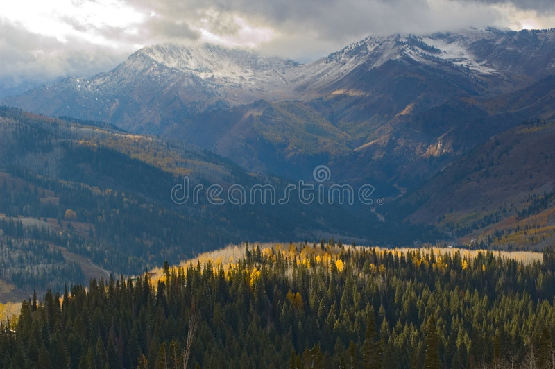 Winter Coming To Utah Mountains Royalty Free Stock Photos