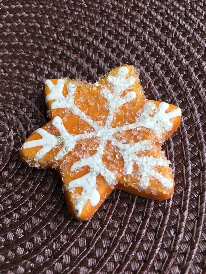 Winter cookie stock image