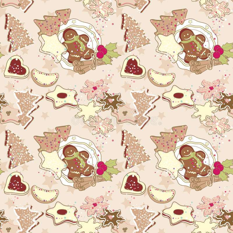 Download Winter cookies pattern stock vector. Image of event, christmas - 27964026