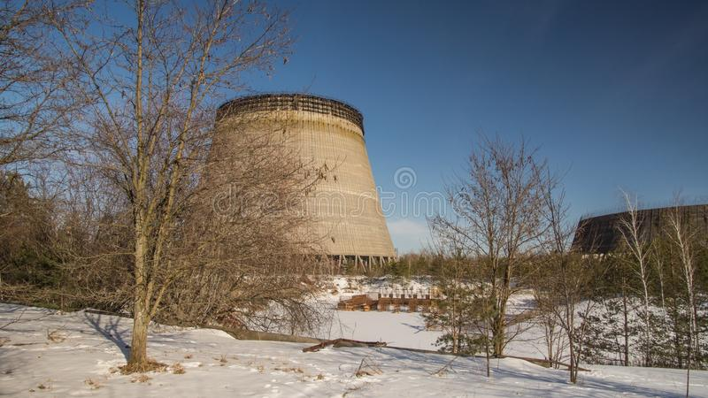 Winter, Cooling Tower, Sky, Snow royalty free stock photo
