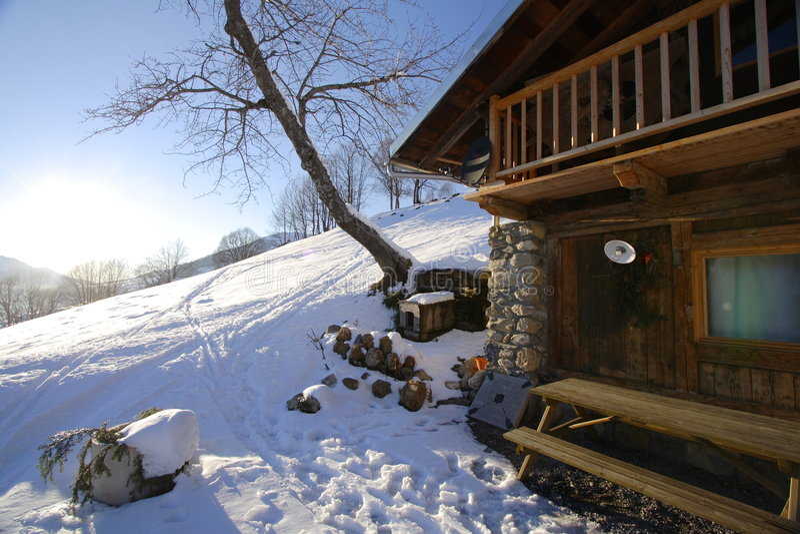 Winter Cottage Stock Photos