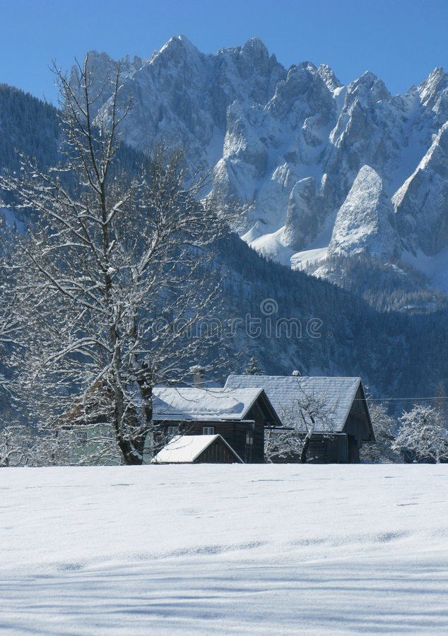 Winter country stock images