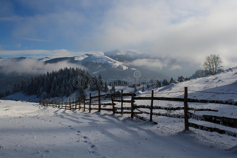Winter in the countryside royalty free stock photography