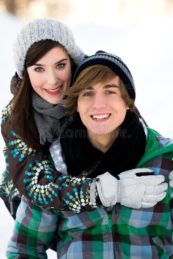 Download Winter couple stock photo. Image of joyful, attractive - 12626234