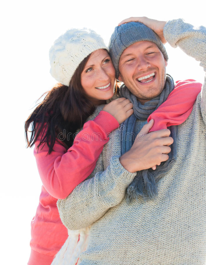 Download Winter couple stock image. Image of outdoor, blue, embrace - 16756431
