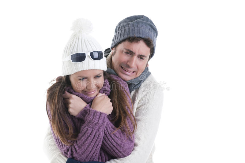 Download Winter Couple stock photo. Image of relaxation, hair - 16866934