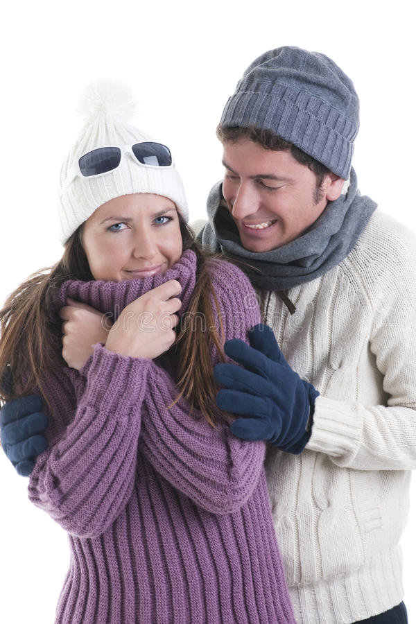 Download Winter Couple stock image. Image of cheerful, adult, brown - 16867007