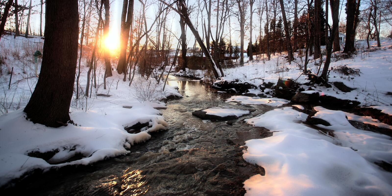 Winter Creek stock photos