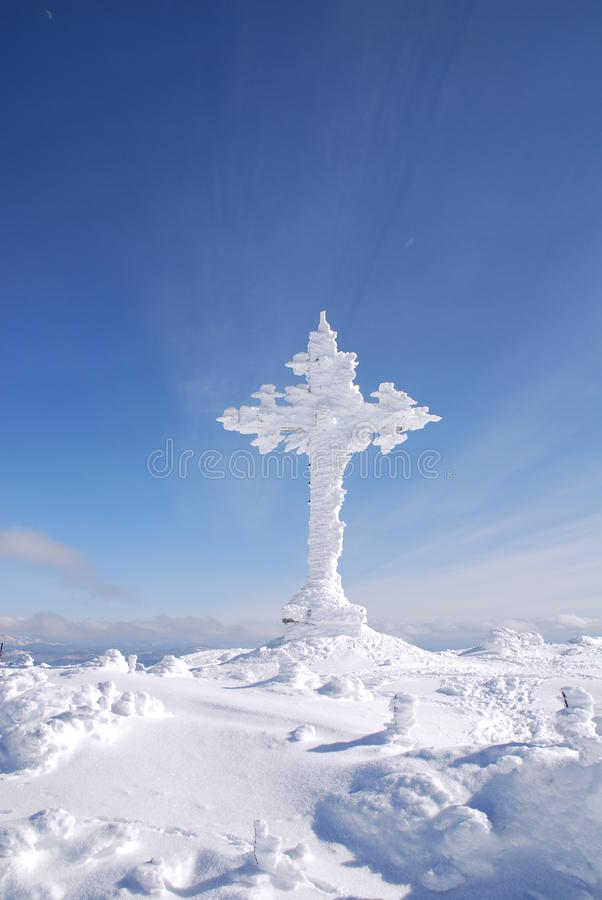 Winter cross stock photography