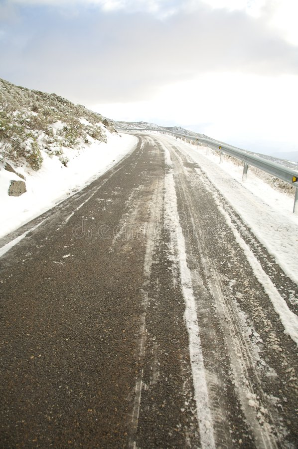 Download Winter dangerous road stock photo. Image of avila, dangerous - 9102390