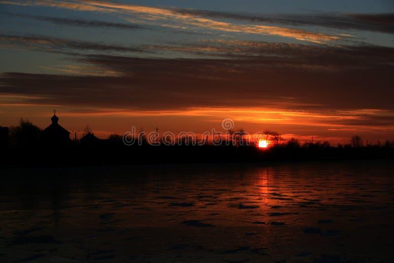 Winter dawn stock image