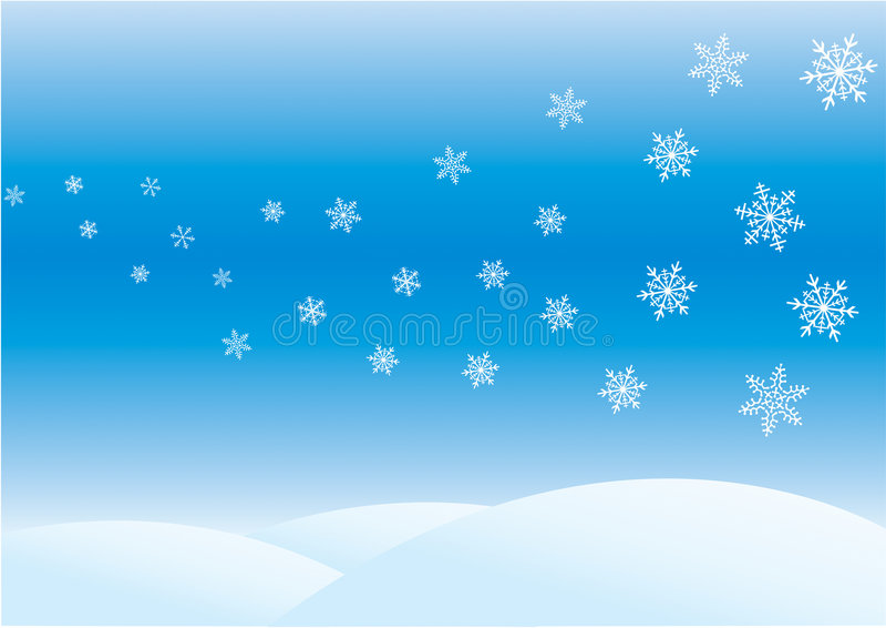 Winter day vector illustration