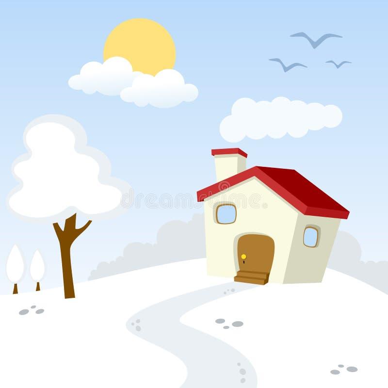 Winter Countryside Landscape vector illustration