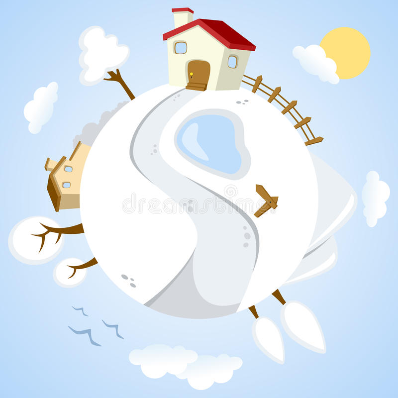 Winter Day On Planet Earth Royalty Free Stock Photography