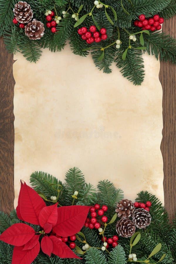 Winter decorative border stock photo image of traditional