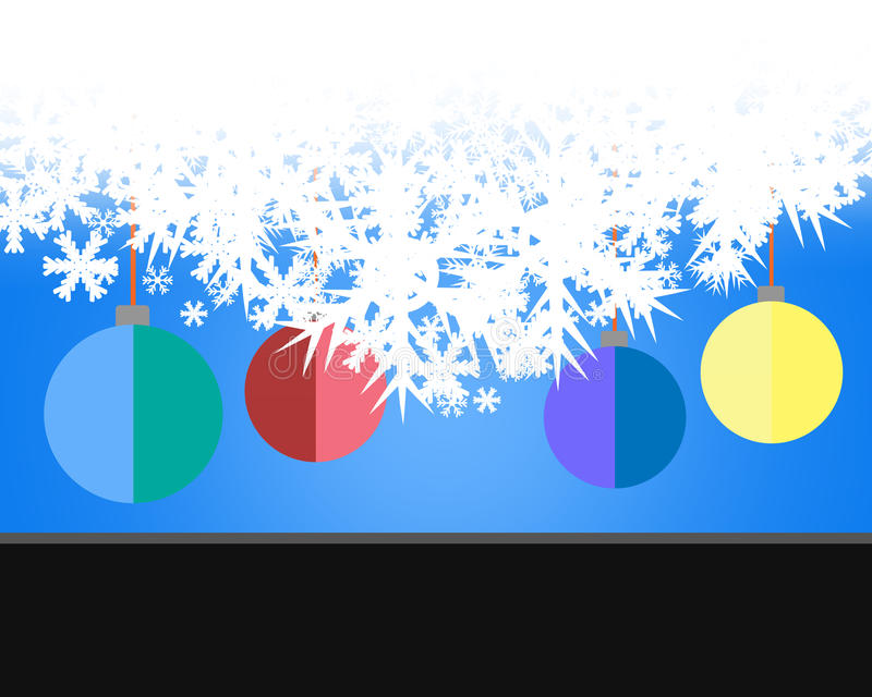 Winter delightful snowfall Colorful elegant on abstract background stock illustration