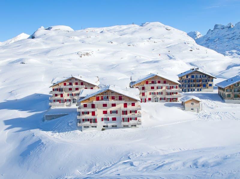 Winter in den Alpen stockfotografie