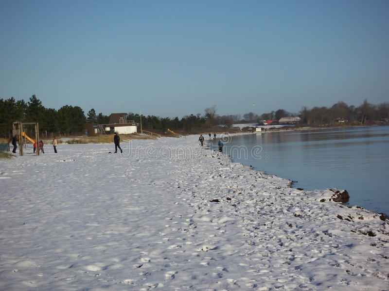 Winter an der Küste stockfotografie