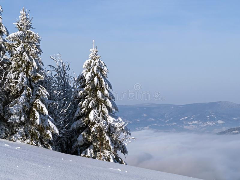 Winter in der Landschaft lizenzfreies stockfoto
