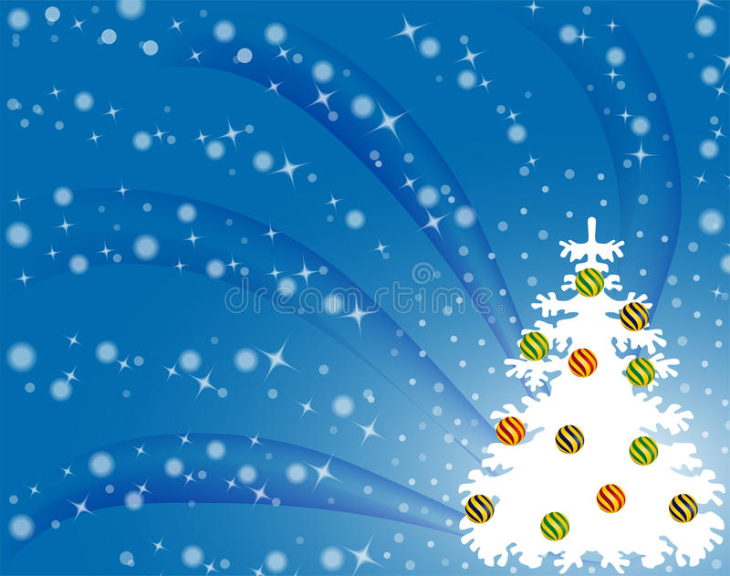 Winter design. Illustration of a winter design with white firtree stock illustration
