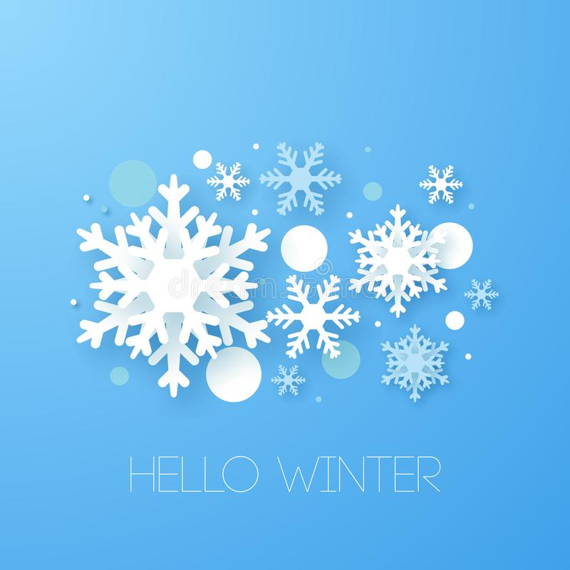 Winter design background. Origami snowfall. Vector Illustration vector illustration
