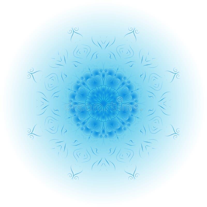 Winter design element. Stylized Christmas snowflake. Ornate shape. Winter design element. Stylized Christmas snowflake on white background. Ornate shape royalty free illustration