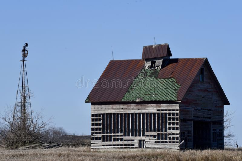 Dilapidated Farm Building stock photo