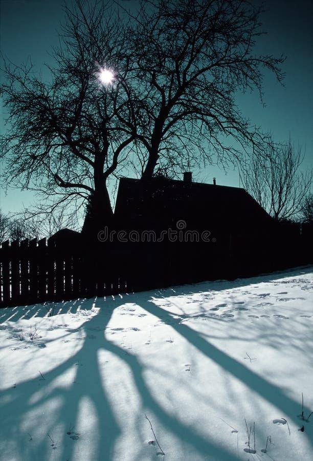 Winter-Dorf stockfoto