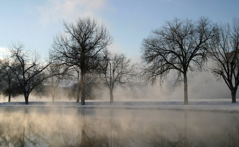Winter Dream Series 11. The combination of extremely cold temperatures and the boiling hot water that makes its way to the surface of the earth creates a royalty free stock photo