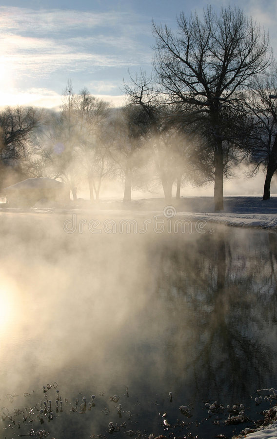 Winter Dream Series 4. The combination of extremely cold temperatures and the boiling hot water that makes its way to the surface of the earth creates a royalty free stock photography