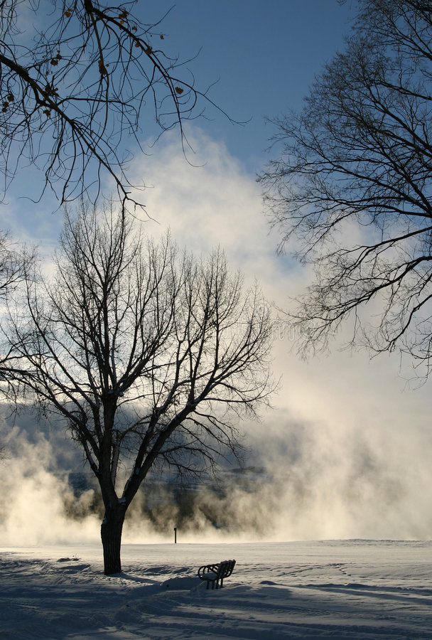 Winter Dream Series 6. The combination of extremely cold temperatures and the boiling hot water that makes its way to the surface of the earth creates a royalty free stock images
