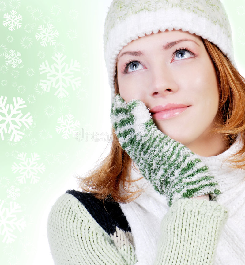 Download Winter Dreaming.... stock photo. Image of female, holiday - 6710264