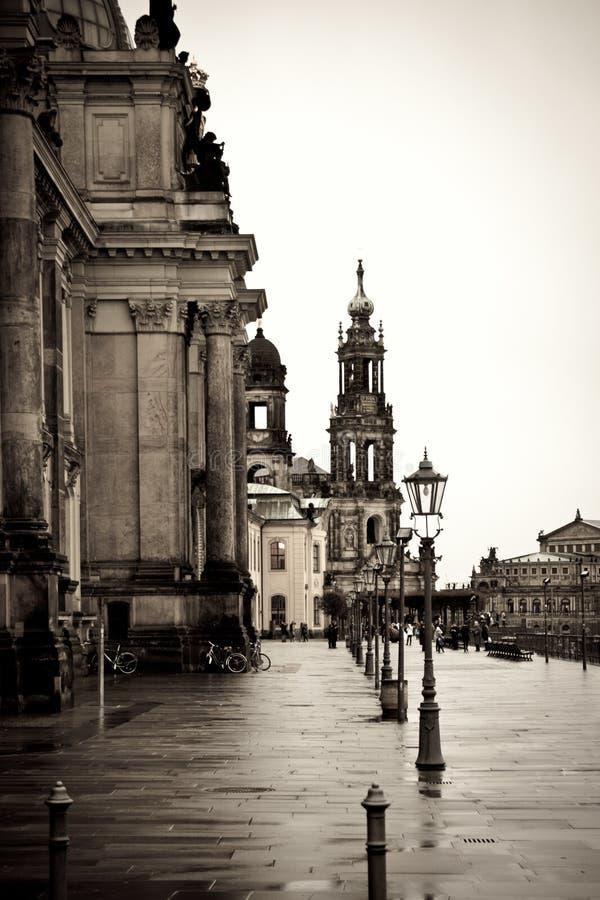 Winter in Dresden stockfoto