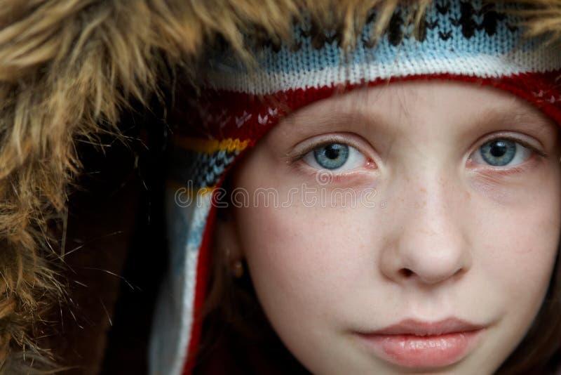 Winter dressed girl royalty free stock photo