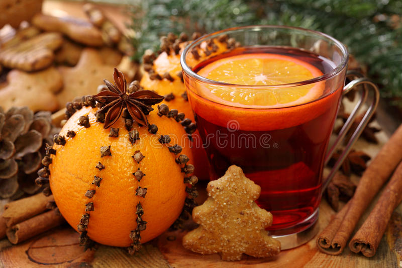 Winter drink royalty free stock photo