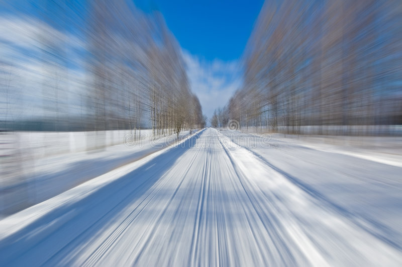 Winter drive royalty free stock image