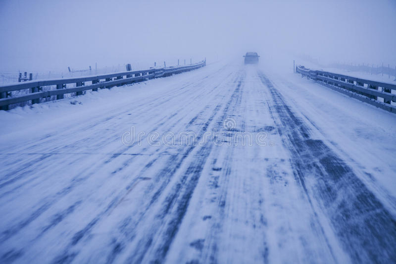 Winter Driving Royalty Free Stock Photo