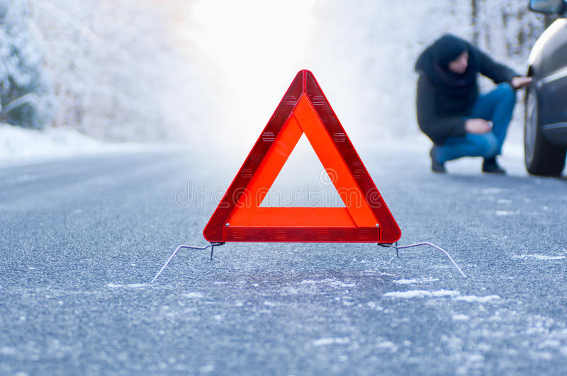 Download Winter Driving - Car Breakdown Stock Photo - Image of january, problem: 35042982