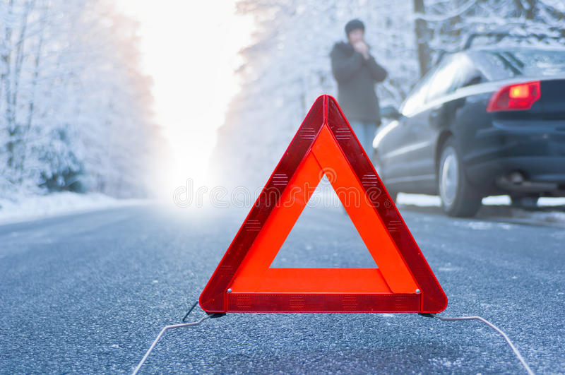 Download Winter Driving - Car Breakdown Stock Image - Image: 35011259