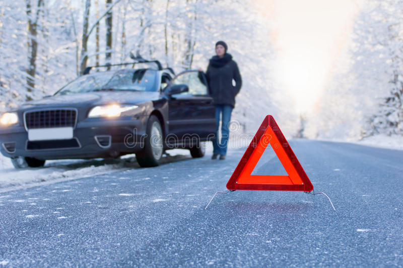 Download Winter Driving - Car Breakdown Stock Image - Image: 35671583