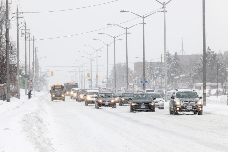 Download Winter driving in Toronto editorial stock image. Image of slow - 37546779