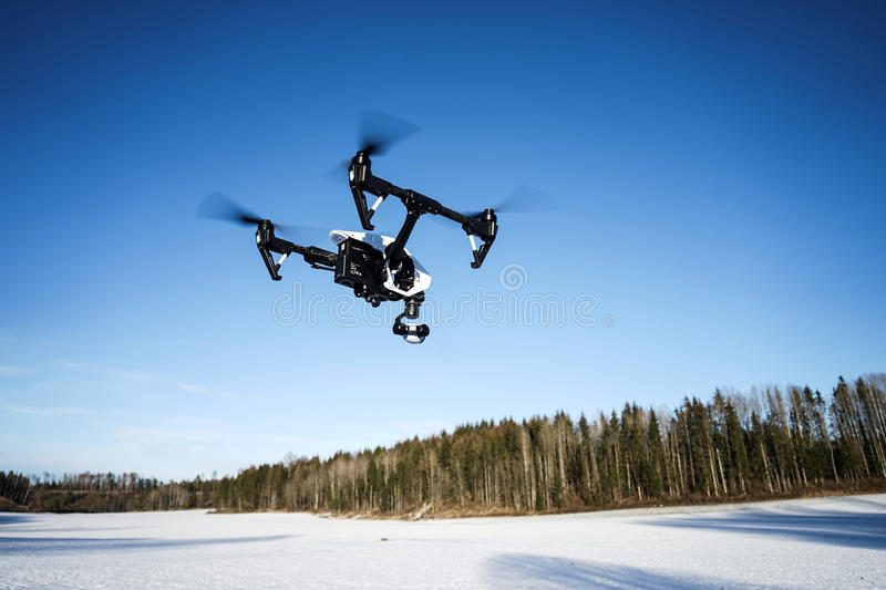 Winter Drone stock image