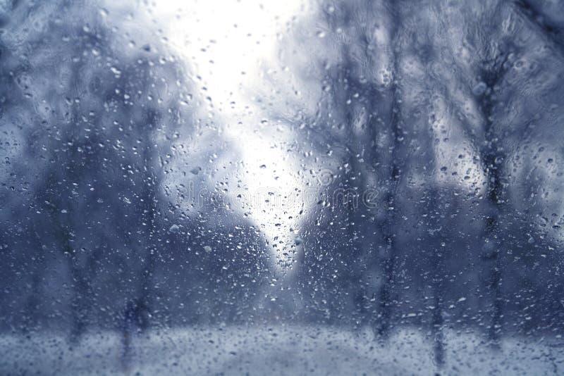 Winter durch Glas lizenzfreie stockfotos
