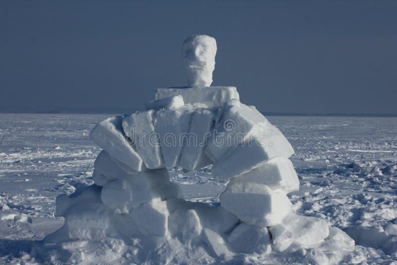 Igloo. Eskimos village. Winter dwelling of Eskimos. Igloo. Eskimos village. Winter background stock images