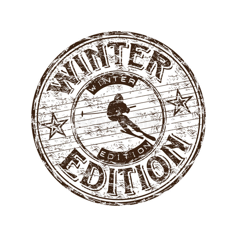 Download Winter edition stamp stock vector. Illustration of season - 17760634