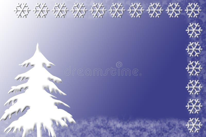 Winter-Einladung oder Karten-Schablone stock abbildung